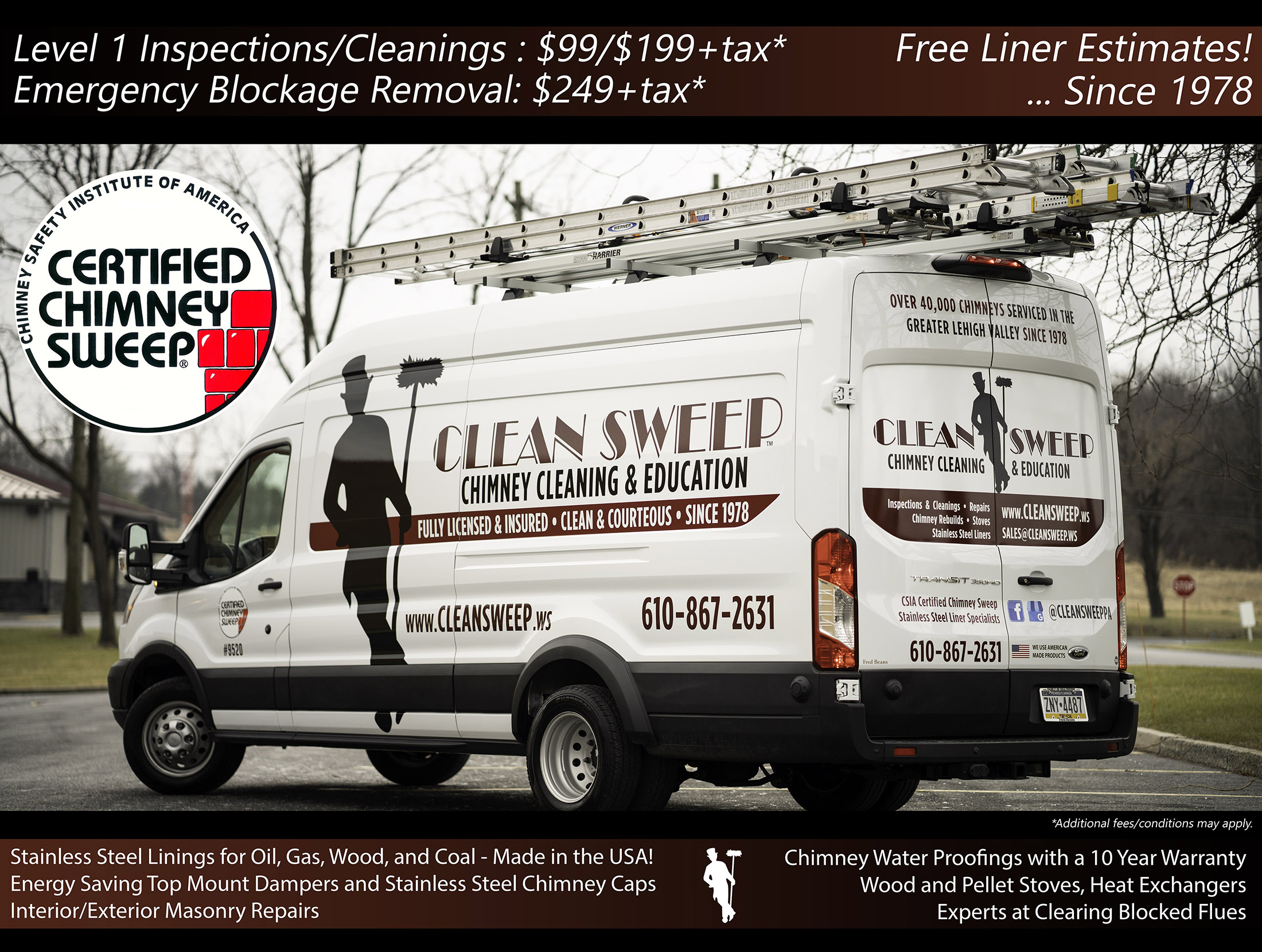 Clean Sweep Chimney Cleaning And Education Since 1978